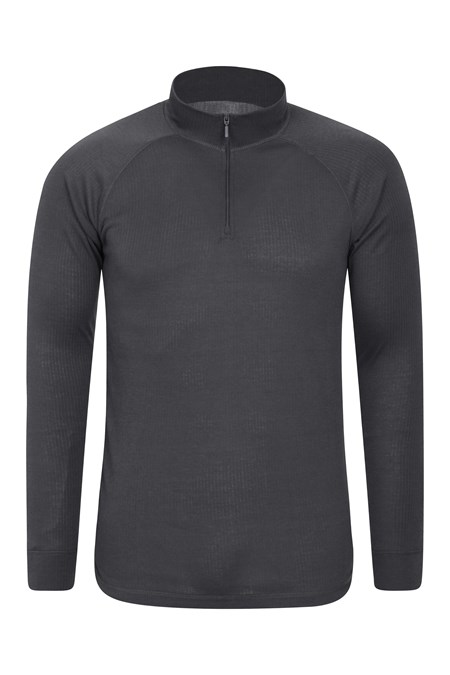 023197 TALUS LS ZIP NECK BASELAYER TOP
