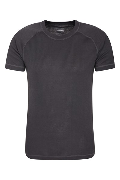 Talus Mens Short Sleeved Round Neck Top - Grey