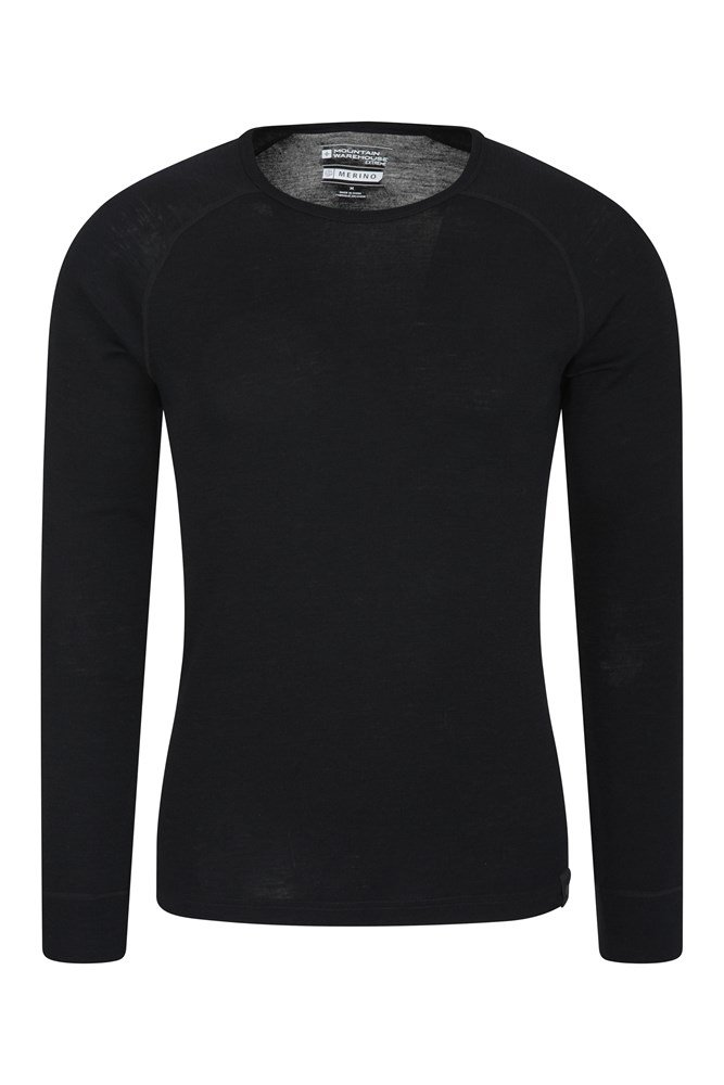 High Quality Thermal Long Sleeve Round Neck T-shirt for X-Large Size Men-Blue
