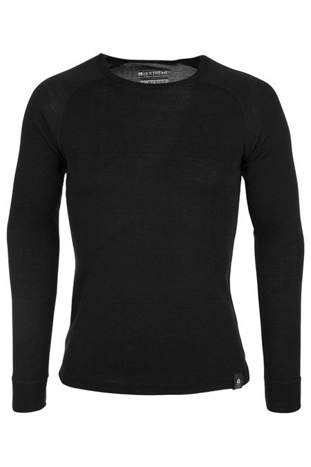Merino Mens Long Sleeved Round Neck Top  be6082ca6f0