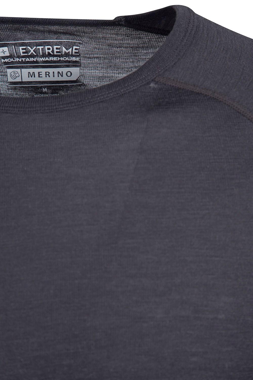 Mountain Warehouse Merino Mens Long Sleeved Zip Neck Top Size L RRP £49.99 E123