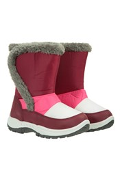 Kids Caribou Fur Trim Snow Boots