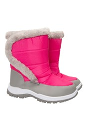 Caribou Kids Fur Trim Snow Boots