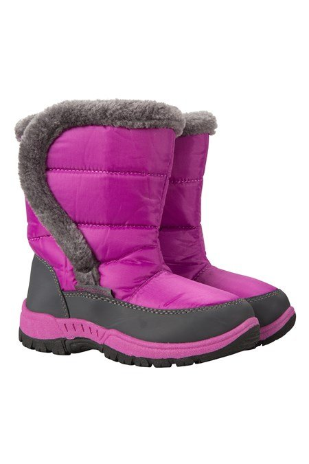 59edc4d0680c7b Kids Caribou Fur Trim Snow Boots - Purple