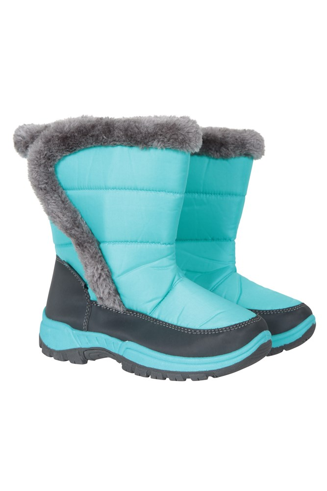 Faux Fur Mountain Warehouse Leisure Womens Snowboots with Sherpa Fleece Lining