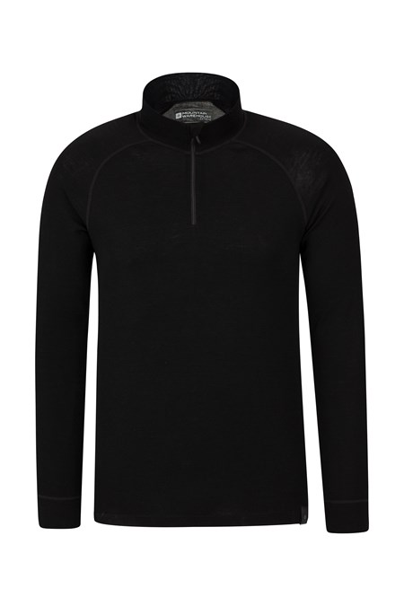 023213 MERINO LS ZIP NECK TOP