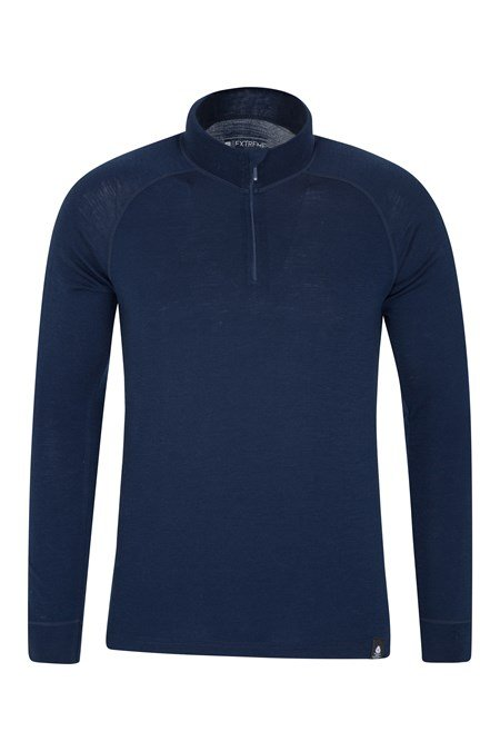 023213 MERINO LS ZIP NECK BASELAYER TOP