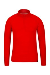 Merino Mens Long Sleeved Zip Neck Top