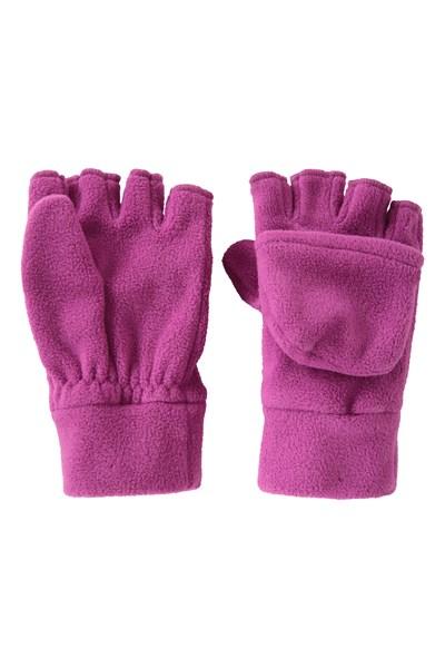 Fingerless Fleece Kids Mitten - Pink
