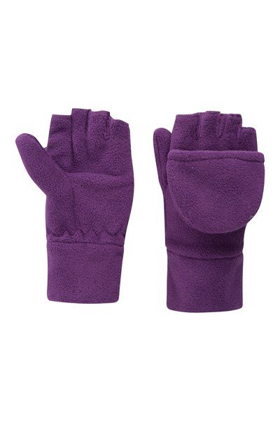 Fingerless Fleece Kids Mitten - Purple
