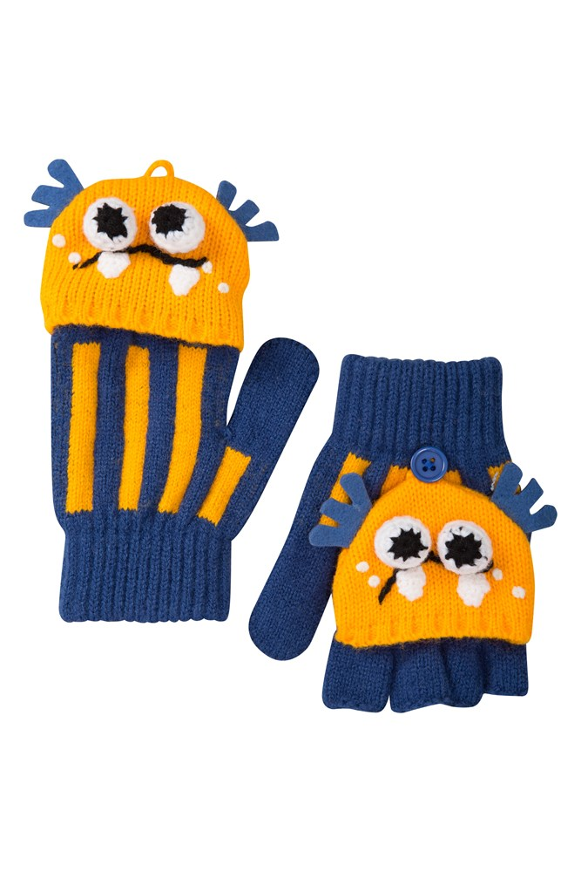 Monster Kids Knitted Glove - Blue