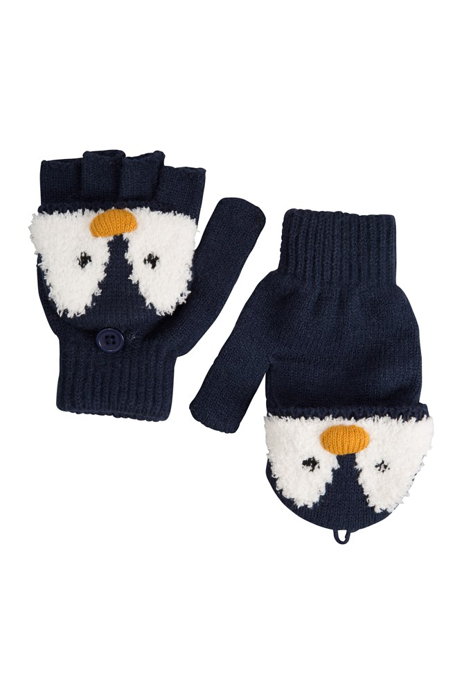 Penguin Knitted Kids Glove | Mountain Warehouse GB