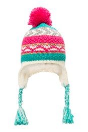 Patterned Stripe Knit Kids Hat