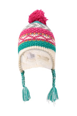34886942373a Bonnet Filler Hiver Multicolore Tricot épais Pompom Péruvien