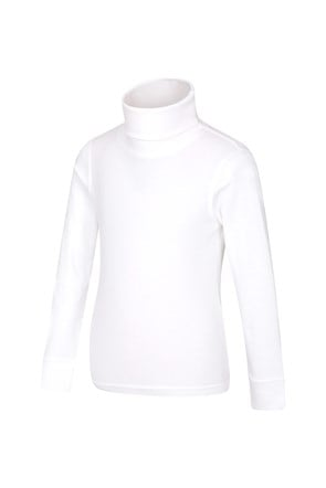 Meribel Kids Cotton Roll Neck Top