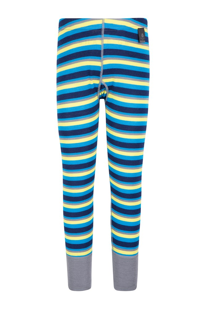 Merino Kids Striped Pants - Blue
