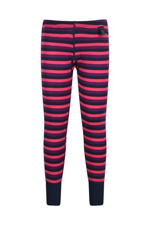 Pantalon rayé enfant Merino-base layer