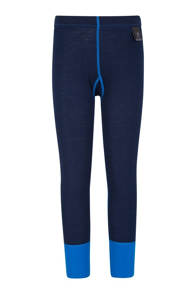 Merino Kids Thermal Pants - Blue