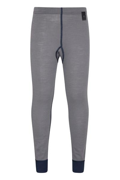 Merino Kids Base Layer Thermal Pants - Grey