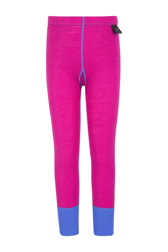 Merino Kids Thermal Pants - Pink