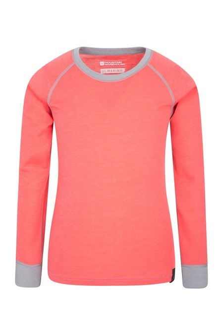 023253 MERINO KIDS ROUND NECK BASE LAYER TOP