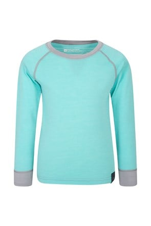 Merino Kids Round Neck Base Layer Top