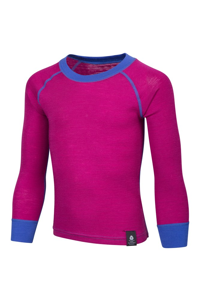 773bb48528 Merino Kids Round Neck Base Layer Top