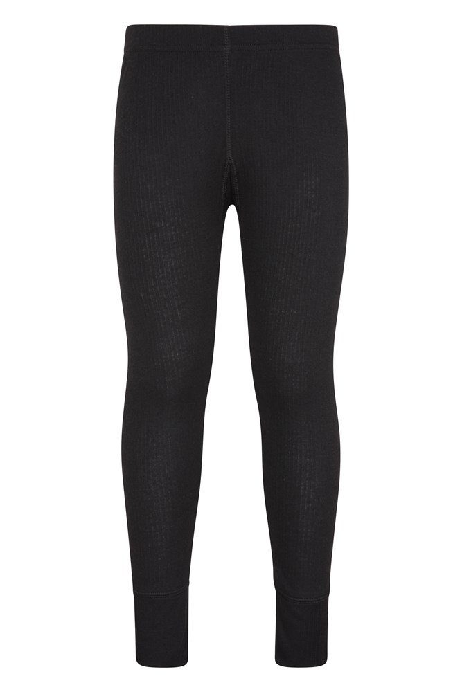 Talus Kids Base Layer Thermal Pants – Black