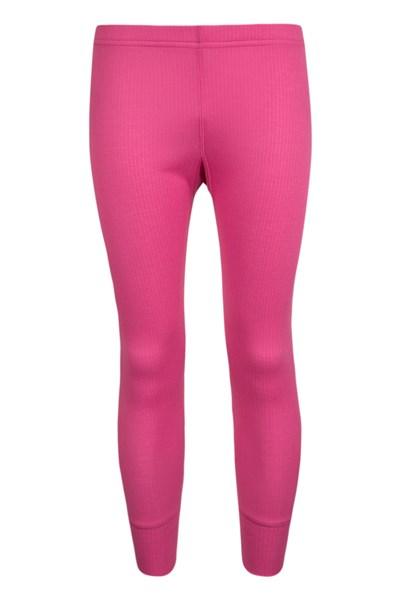 Talus Kids Base Layer Thermal Pants - Pink