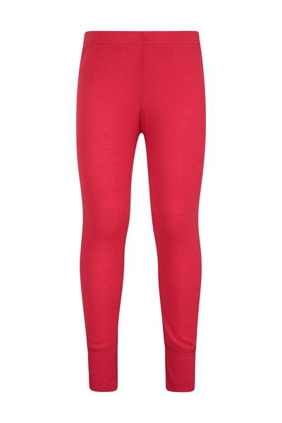 Talus Kids Base Layer Thermal Pants - Red