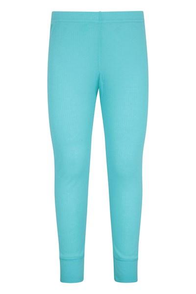 Talus Kids Base Layer Thermal Pants - Teal