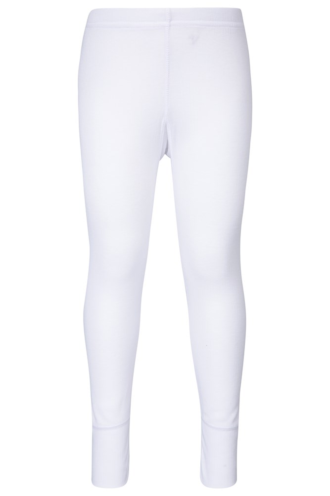 Talus Kids Base Layer Thermal Pants - White