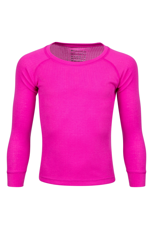 Talus Kids Round Neck Top - Bright Pink
