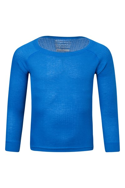 Talus Kids Round Neck Base Layer Top - Blue