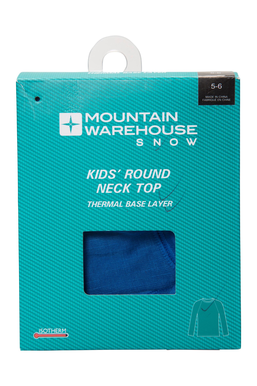 Winter Baselayer Mountain Warehouse Talus Kids Crew Neck Thermal Top