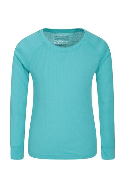 Talus Kids Round Neck Base Layer Top - Teal