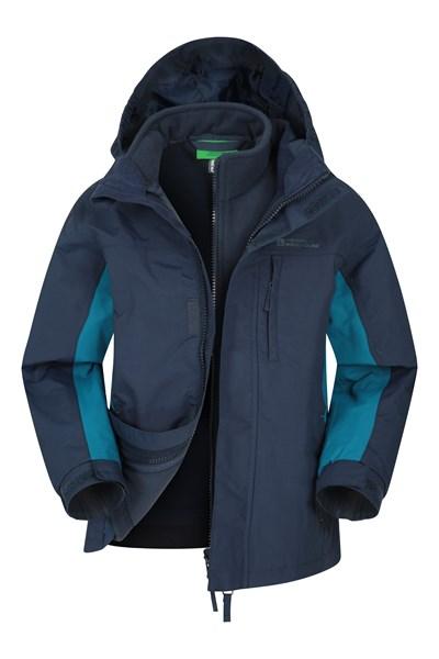 Cannonball 3 in 1 Kids Waterproof Jacket - Blue