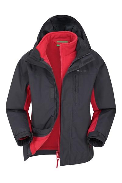 Cannonball 3 in 1 Kids Waterproof Jacket - Grey