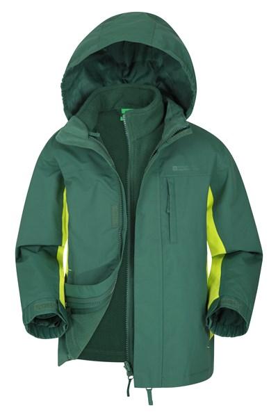 Cannonball 3 in 1 Kids Waterproof Jacket - Green
