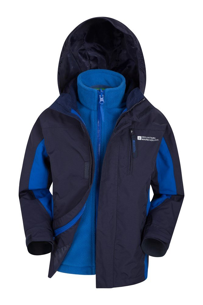 Cannonball 3 in 1 Kids Waterproof Jacket - Navy