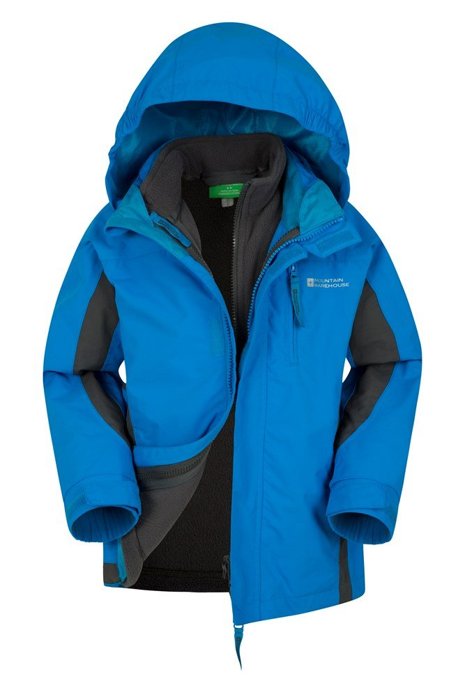 Cannonball 3 in 1 Kids Waterproof Jacket - Turquoise