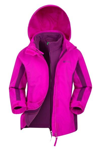 Lightning 3 in 1 Kids Waterproof Jacket - Pink