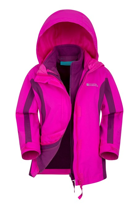 Lightning 3 in 1 Kids Waterproof Jacket | Mountain Warehouse US