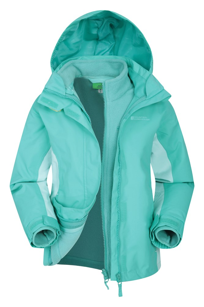 Lightning 3 in 1 Kids Waterproof Jacket - Teal