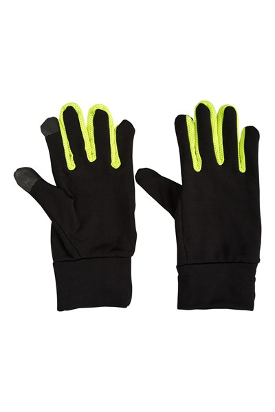 Force Mens Running Gloves - Black