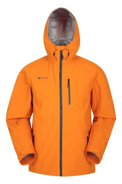 Bachill Mens Waterproof Jacket - Orange
