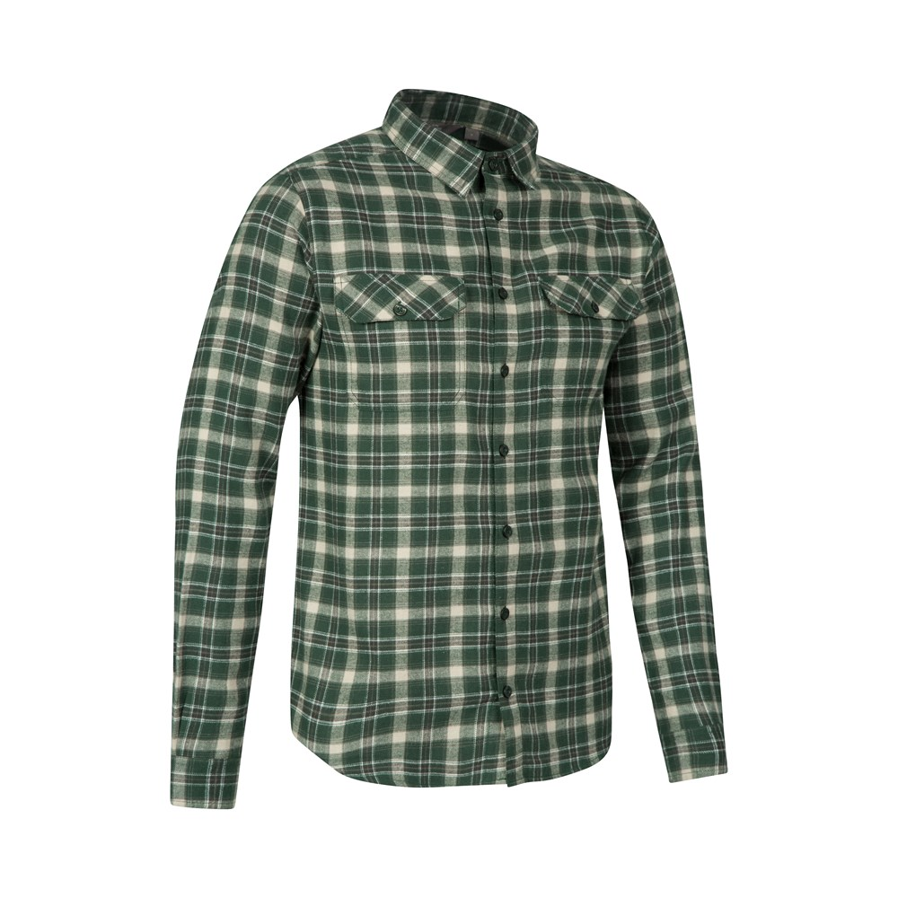 Men's Trekkin™ Flannel Long Sleeve Shirt is rated out of 5 by Rated 4 out of 5 by Cabe5 from Good looking shirt The flannel is nice and comfortable material. A lot of other reviews I read commented that the shirt runs rather large mostly in the sleeves.