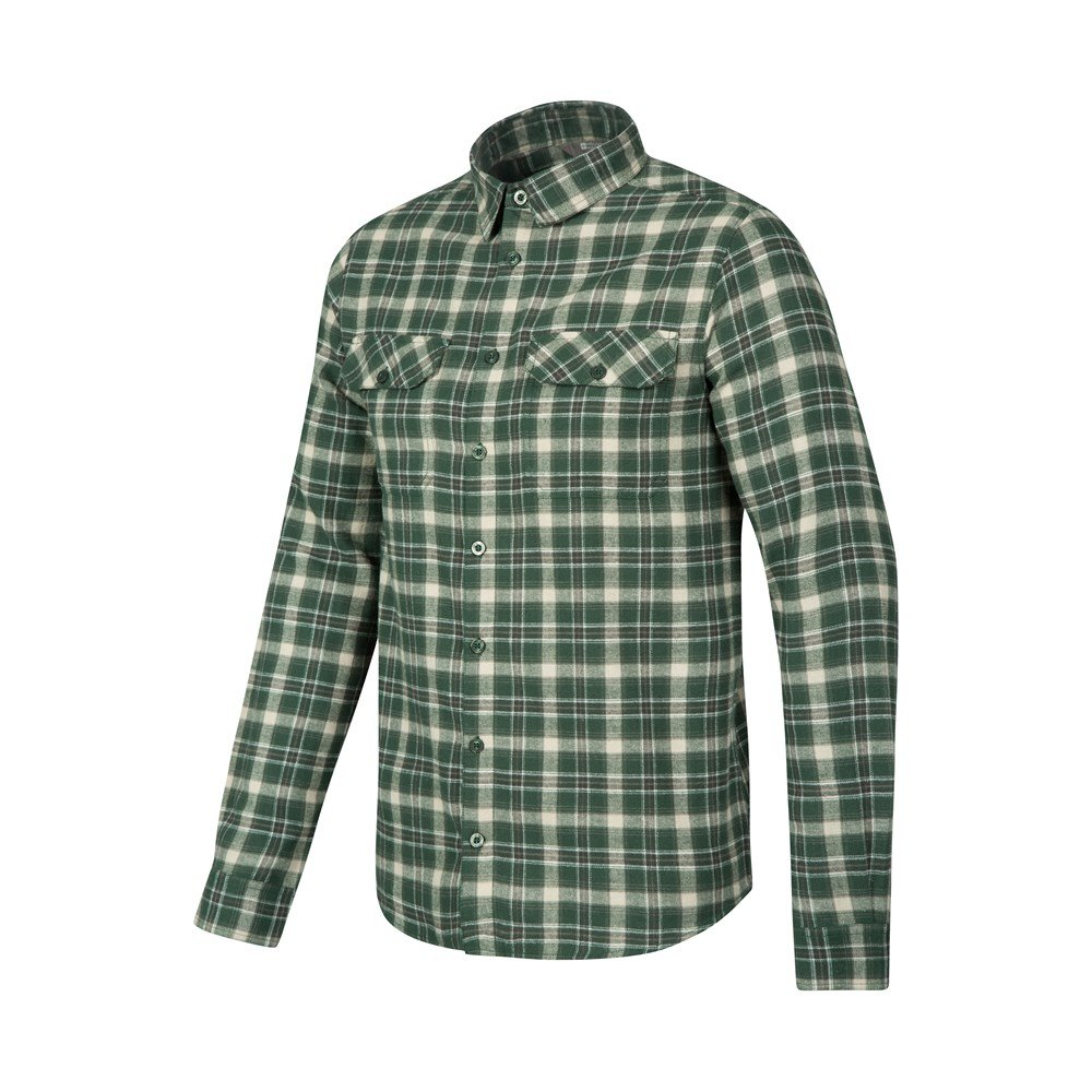 Mountain warehouse trace mens flannel long sleeve shirt for Mens plaid shirts long sleeve