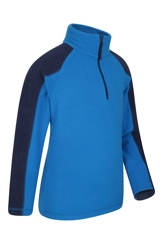 for Holidays Quick Dry Mountain Warehouse Rascal Kids Microfleece Jacket Lightweight Kids Winter Sweater Antipill Comfortable Childrens Jacket