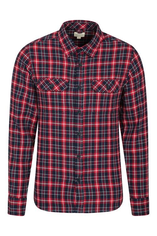 Mountain Warehouse Trace langärmliges Herren Flanell-Hemd
